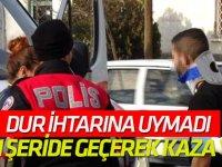 Dur' İhtarına Uymadı, Karşı Şeride Geçerek Kaza Yaptı: 3 Yaralı