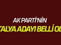 AK Parti'nin Antalya adayı belli oldu!