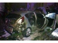 Milas'ta park halindeki araç kundaklandı