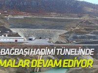 Afşar-Bağbaşı Hadimi tünelinde çalışmalar devam ediyor