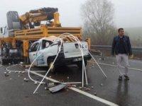 Tekirdağ'da trafik kazası: 2 ağır yaralı