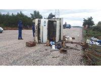Tarım işçilerini taşıyan kamyon devrildi: 30 yaralı