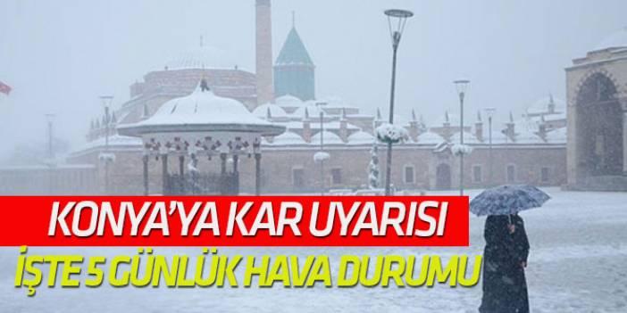 Meteoroloji'den Konya'ya kar müjdesi