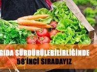 Gıda sürdürülebilirliğinde 58'inci sıradayız