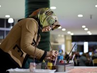 Ebru Sanatçısı Koyuncu'dan Altın Dokunuşlar