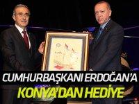 Cumhurbaşkanı Erdoğan'a Konya'dan hediye