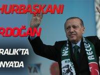 Erdoğan 17 Aralık'ta  Konya'da