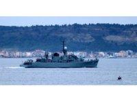 Bulgar askeri gemisi Çanakkale Boğazı'ndan geçti