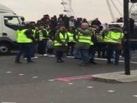 'Sarı Yelekliler' eylemi İngiltere'ye sıçradı