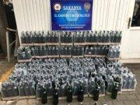 Sakarya'da 396 şişe kaçak içki ele geçirildi