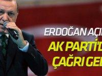 Erdoğan açıkladı, AK Parti'den çağrı geldi!