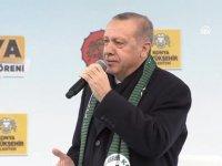 Erdoğan Konya'da toplu açılış töreninde konuşuyor