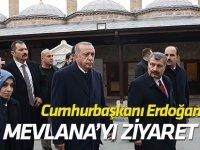 Cumhurbaşkanı Erdoğan Mevlana Türbesi'ni ziyaret etti