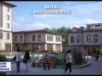 Akşehir Dudu Kadın Çarşısı inşaatı sürüyor