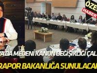 Konya'da medeni kanun değişikliği çalıştayı yapıldı;  RAPOR BAKANLIĞA SUNULACAK