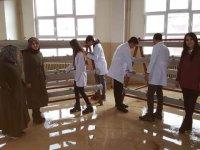 Tarım lisesinde topraksız çilek üretim denemesine başlandı