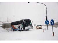 Nevşehir'de kar yağışı ulaşımı olumsuz etkiledi