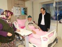 Başkan Hadimioğlu'nun hasta ziyaretleri