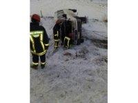 Denizli'de işçi servisi devrildi: 12 yaralı