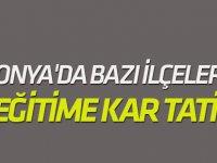 Konya'da bazı ilçelerde eğitime ara verildi