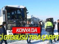 Konya'da İşçi Otobüsü Tıra Çarptı: 5 Yaralı