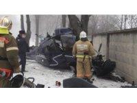 Kazakistan'da helikopter kazası: 1 ölü