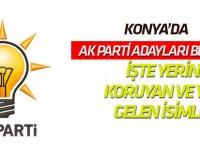 İşte Konya AK Parti'de gidenler gelenler...