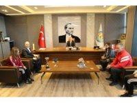 Şampiyon takımdan Başkan Tarhan'a ziyaret