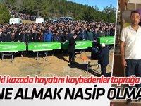 Kazada ölen aynı aileden 5 kişinin cenazesi defnedildi