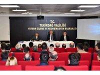 Tekirdağ'da yürütülen projeler tutarı 6 milyar 350 milyon TL