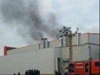 Konya'da tank fabrikasında yangın!