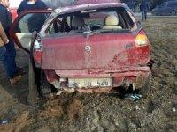 Nallıhan'da otomobil takla attı: 1 yaralı