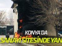Ilgın'da Sanayi Sitesinde Yangın