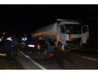 Ordu'da akaryakıt yüklü tanker ile otomobil çapıştı: 1 ölü