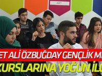 Mehmet Ali Özbuğday Gençlik Merkezi kurslarına yoğun ilgi
