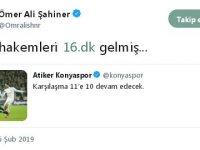 Ömer Ali Şahiner:  VAR hakemleri 16. dakikada gelmiş