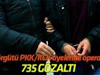 Terör örgütü PKK/Terör örgTerör örgütü PKK/KCK üyelerine operasyon: 735 gözaltıütü PKK/KCK üyelerine operasyon: 735 gözaltıKCK üyelerine operasyon