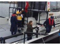Yabancı bandıralı geminin yaralanan mürettebatı tedavi edildi