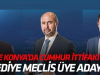 İşte Konya'da Cumhur İttifakı belediye meclis üye listeleri