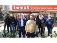 TMMOB üyeleri, Yazıcı'dan trafik ve yapı denetimi sorunlarını çözmesini istedi