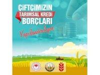 Çiftçinin tarımsal kredi borçları yapılandırılıyor