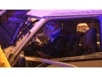 Kuzey Marmara otoyolunda feci kaza: 2 yaralı