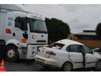 Aliağa'da feci kaza kamerada: 1 ölü