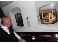 Cumhurbaşkanı Erdoğan, Çamlıca Camisi'ni havadan inceledi