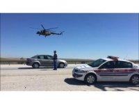 Jandarmanın havadan trafik denetimleri sürüyor
