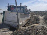 Konya'da istinat duvarı çöktü