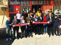 Karaköprü Belediyespor yönetimi taraftarıyla buluştu