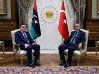 Cumhurbaşkanı Erdoğan, Libya Başkanlık Konseyi Başkanı Al Sarraj'ı kabul etti