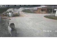 Vincin kaza anı güvenlik kamerasına yansıdı