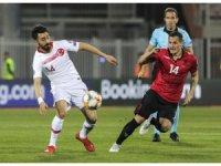 2020 UEFA Avrupa Futbol Şampiyonası: Arnavutluk: 0 - Türkiye: 1 (İlk yarı)